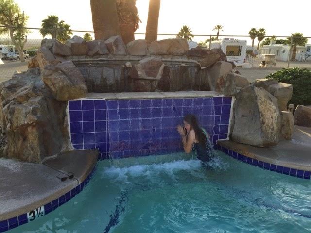 Spa waterfall Fountain of Youth Niland california