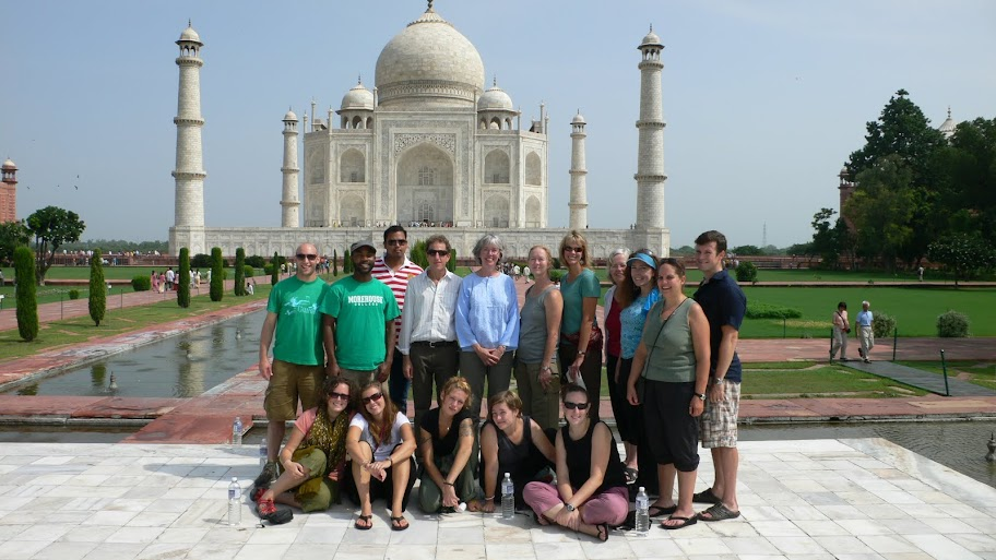 GEEO group photo at the Taj Mahal in Agra, India