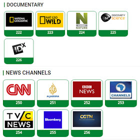 TSts news and documentary channels