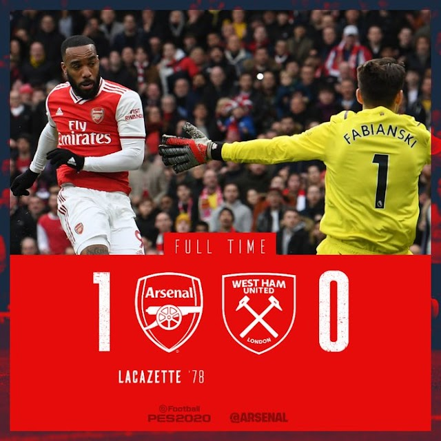 Arsenal vs West Ham 1-0 – Highlights [DOWNLOAD VIDEO]