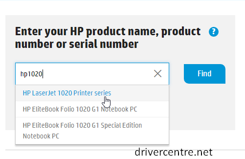 enter HP PSC 1600 into the box