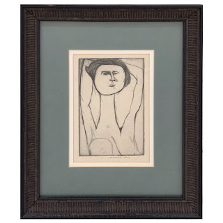 Dorothy Cohen Signed Nude Etching