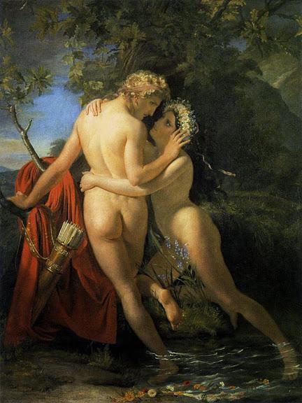 François-Joseph Navez - The Nymph Salmacis And Hermaphroditus