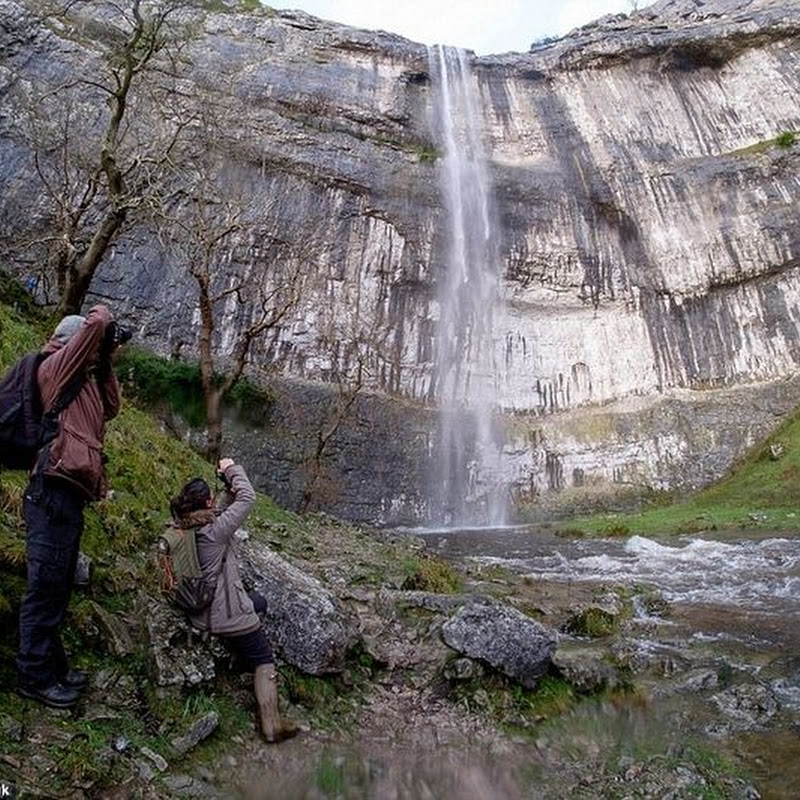 Malham Cove Waterfall Brought Back to Life After 200 Years