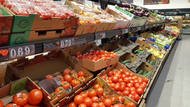 photo of a produce display