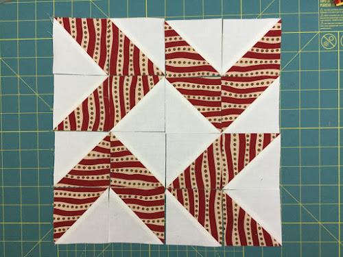 Block 7: 16 HST quilt sampler