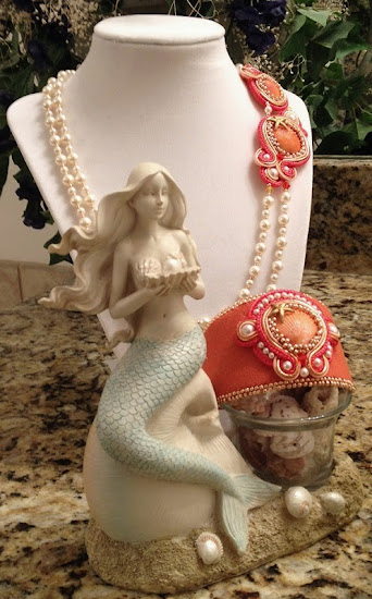 Sunset Soutache Jewelry Set by French Mermaid Collection