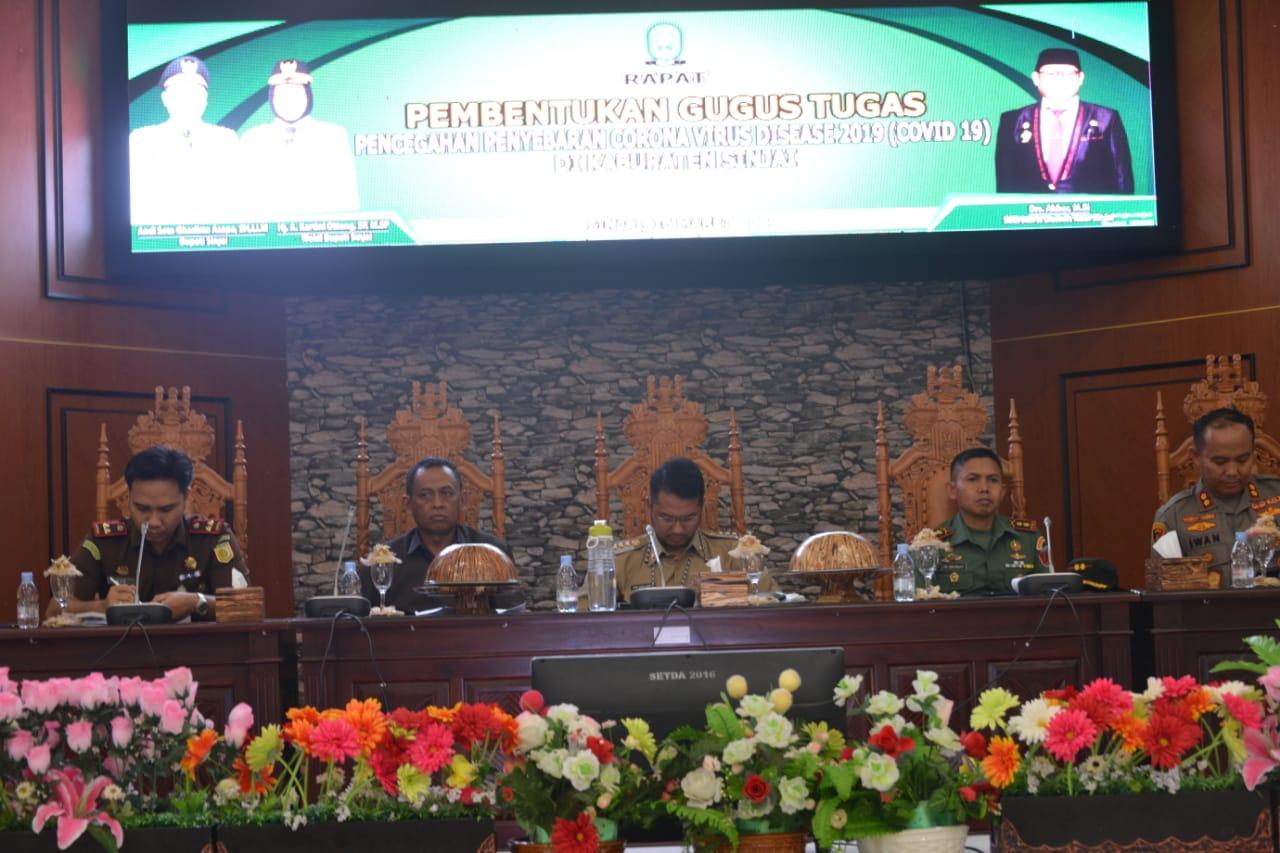 Wakil Ketua I DPRD Sinjai Apresiasi Pemda Bentuk Gugus Tugas Pencegahan Virus Corona