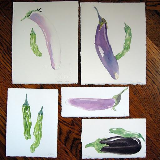 Eggplants. Artist Lisa Hsia