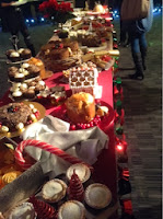 Christmas table with cakes and mince pies from Morrisons