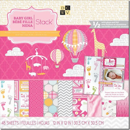 Die Cuts With A View Baby Girl 2013 Stack