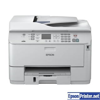 How to reset flashing lights for Epson WorkForce WP-4532 printer