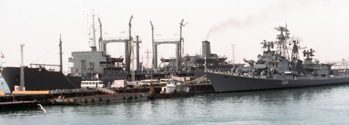 INS Shakti - A57 - Deepak-class Fleet Tanker - D54 - INS Ranvir - Destroyer - Indian Navy - 01 - TN