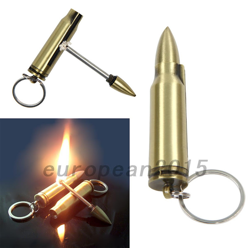 New permanent match lighter stainless steel bullet type