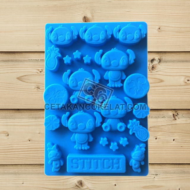 cetakan coklat cokelat Lilo Stitch Disney