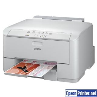 Reset Epson WorkForce WP-4095DN laser printer by program