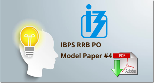 IBPS RRB PO Prelims Model Question paper 4 pdf Download