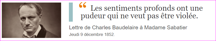 Lettre de Charles Baudelaire