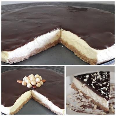 Çok lezzetli fındıklı çikolatalı cheesecake