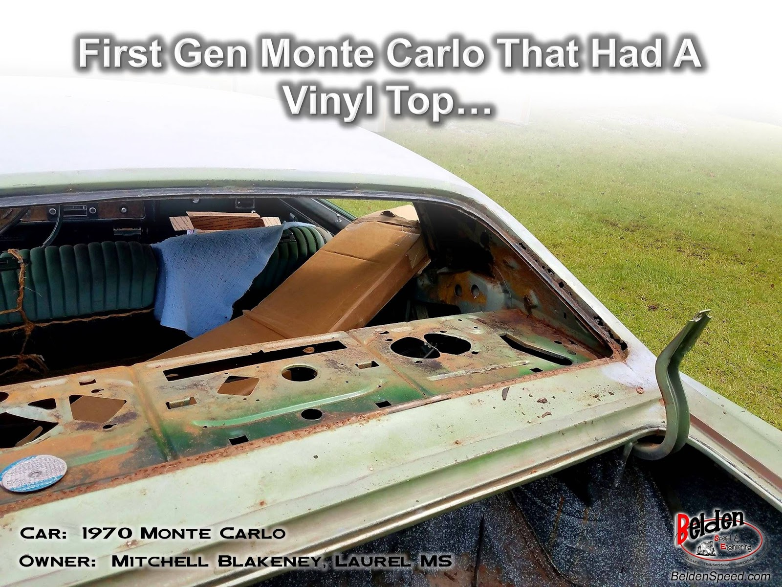Customer Showcase - 1970 Monte Carlo Rear Window Channels and Corners  Installed