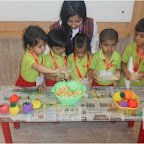 Healthy Fruit Salad Day Celebrated by Playgroup Evening Section at Witty World, Chikoowadi(2017-18)