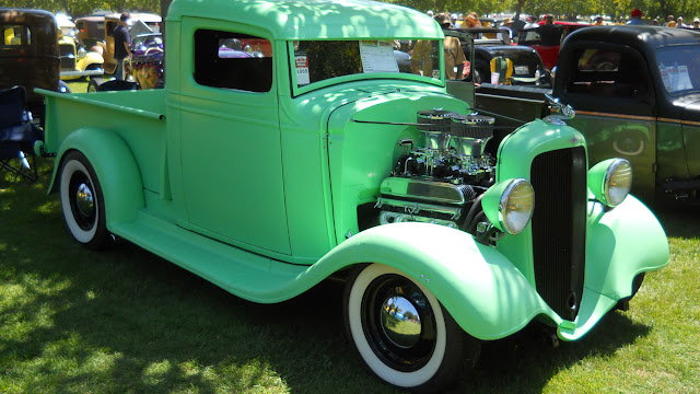 Chevy Truck owner builder Roger Haas, Nailhead powered, shot taken at West Coast Good Guys 2012