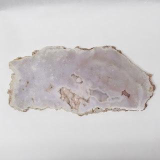 Rose and White Quartz Sliced Mineral Specimen