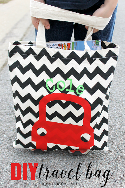DIY Travel Bag for Kids at GingerSnapCrafts.com