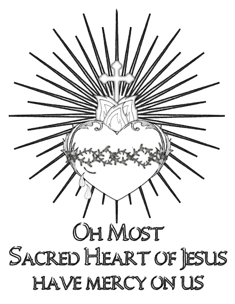 Best free anchor with heart coloring page design for Sacred heart of jesus coloring page
