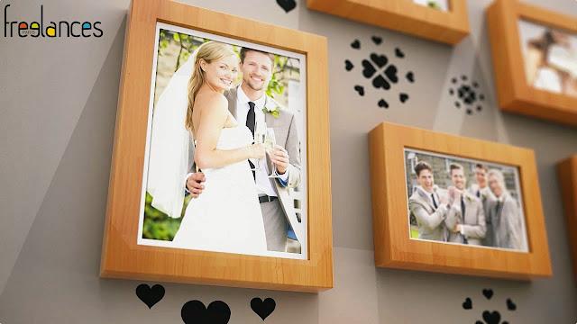 diaporama vidéo mariage modèle cadres photos photo focalisation 02
