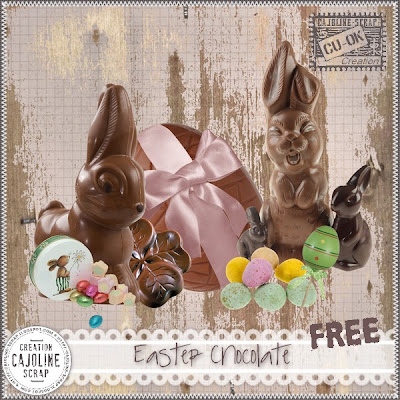 "Free scrapbook elements ""Easter Chocolate - CU"" from Cajoline scrap"