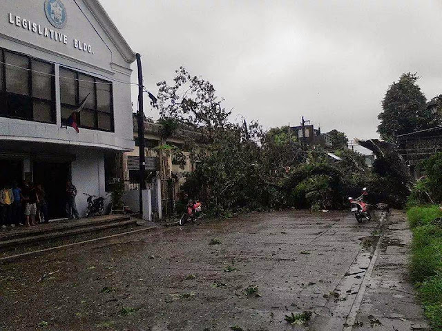 Effects of Typhoon Glenda felt in Catarman, Northern Samar