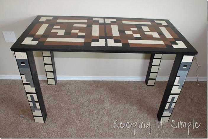 Boys Homework Station: DIY Minecraft Crafting Table