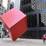 Red Cube by Isamu Noguchi. NYC