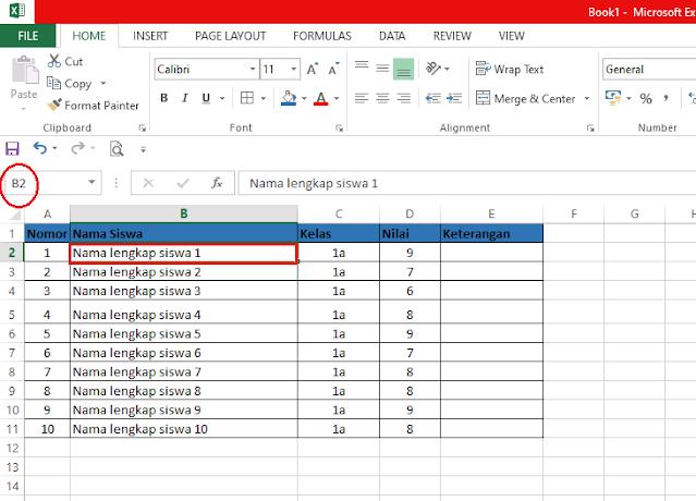 Cara Freeze Excel