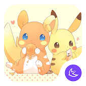 Yellow Kawaii Pikachu APUS theme & HD wallpapers