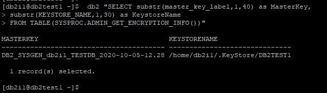 SYSPROC.ADMIN_GET_ENCRYPTION_INFO() Table Function