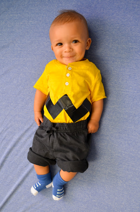 Charlie Brown baby costume