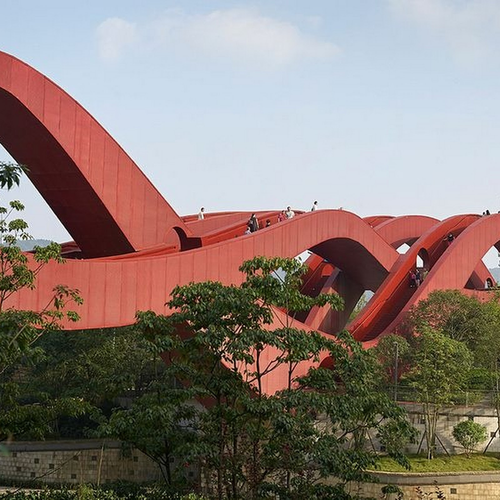 Lucky Knot Bridge in Changsha, China