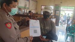73 orang Warga Desa Cibuah Kecamatan Warunggunung ikuti Vaksinasi Covid-19 di Kantor Desa Cibuah