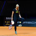 STUTTGART, GERMANY - APRIL 17 : Sabine Lisicki in action at the 2016 Porsche Tennis Grand Prix