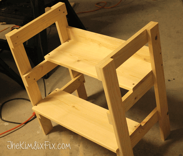 Step stool with table top
