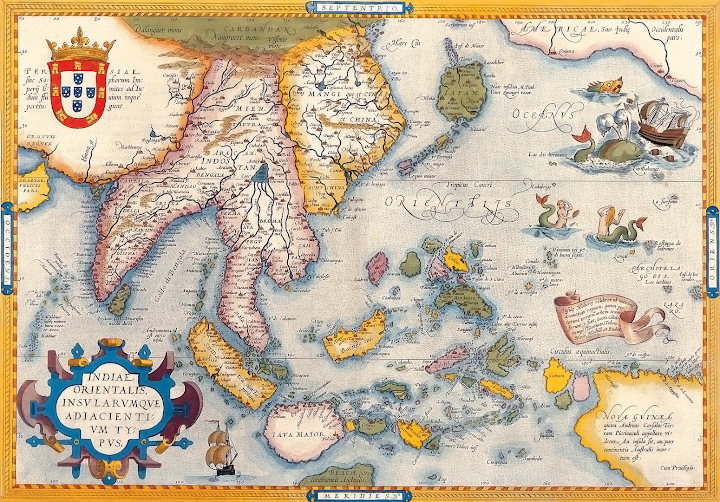 Antique map of Asia Abraham Ortelius c1590
