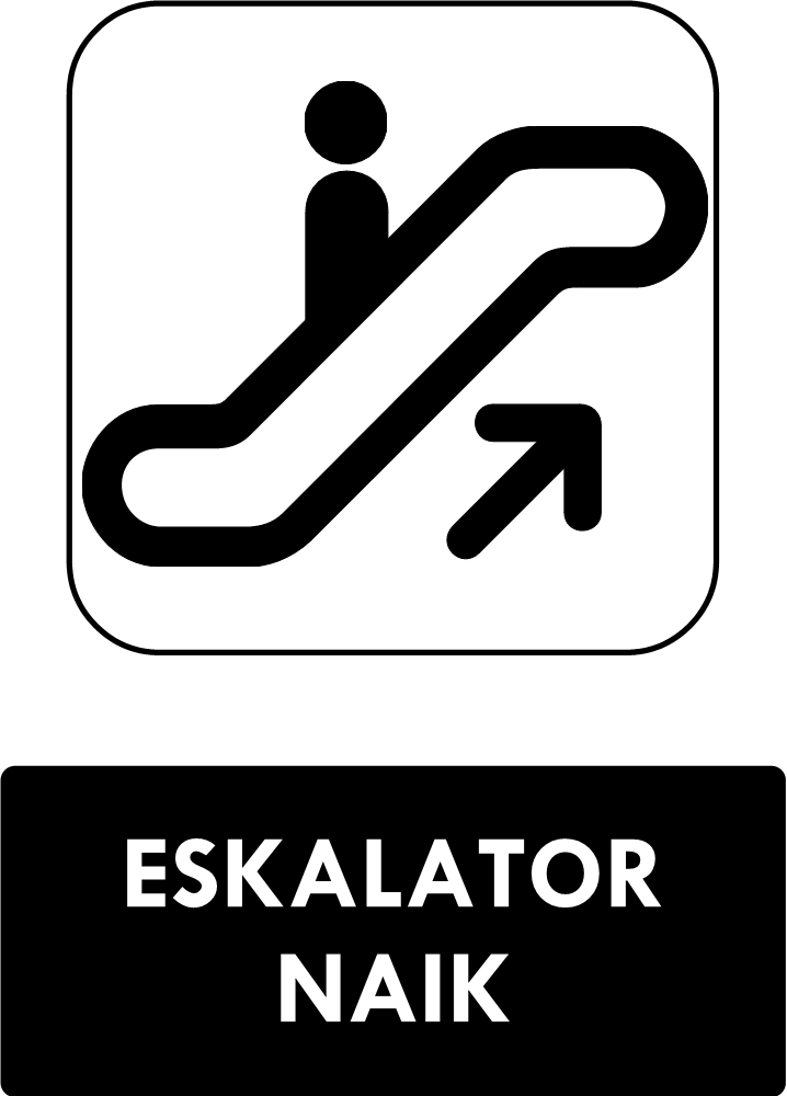 Rambu Eskalator Naik