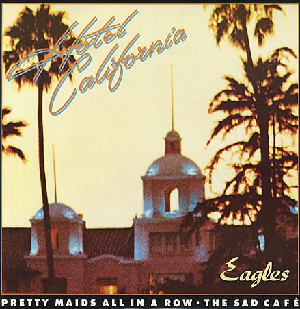 Обложка музыкального альбома Eagles - Hotel California (1977)
