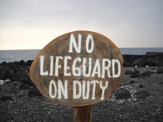 ハワイ島でビーチで泳ぐ際に気を付ける事