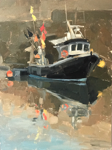 #188 'Fishing Boat, Ile de Re' 8×10″