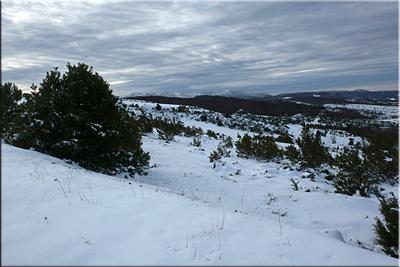 Vista de la Sierra Cantabria o Toloño camino de Belabia