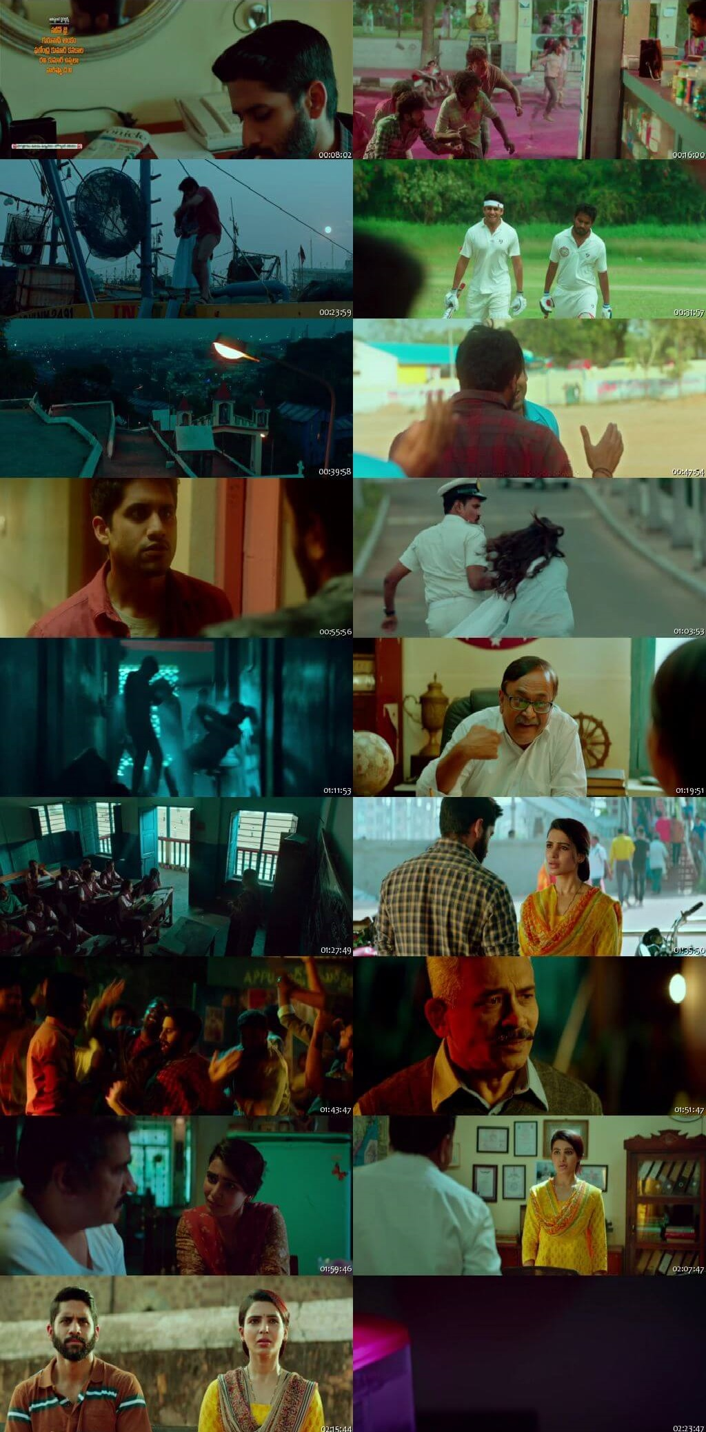 Screen Shot Of Majili 2019 300MB Full Movie Hindi Dubbed Free Download 720P HDRip HEVC
