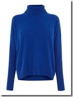 Karen Millen cashmere roll neck slouchy jumper